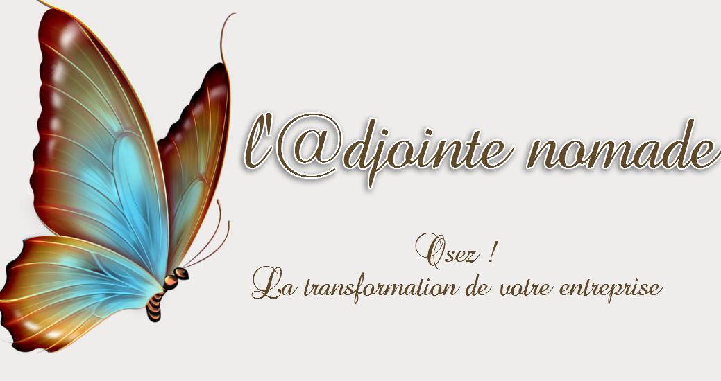 logo - papillon bleu et brun